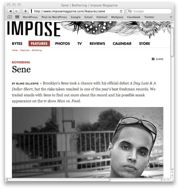 sene interview
